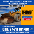 Front end loader training in rustenburg, mpumalanga, secunda, witbank, vryburg, taung, mafikeng, pretoria, johannesburg +27711101491